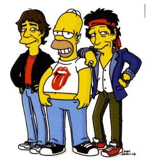 Mick et Keith par Mat Groening