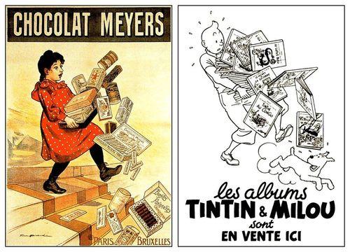 Chocolat Meyers et albums Tintin