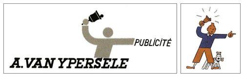 Logos A Van Ypersele publicité et Studios Hergé