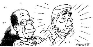 Tibet avec le masque d'Hergé