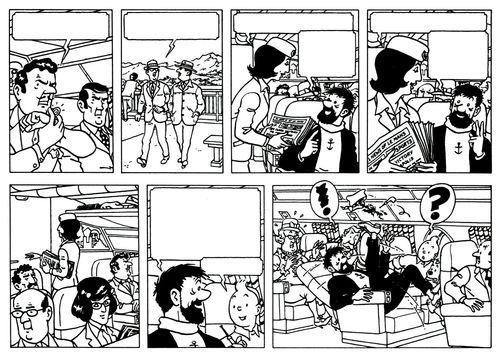 Tintin par Jacques Martin ( détail )