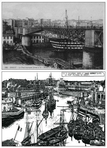 Le pont tournant du port de Brest