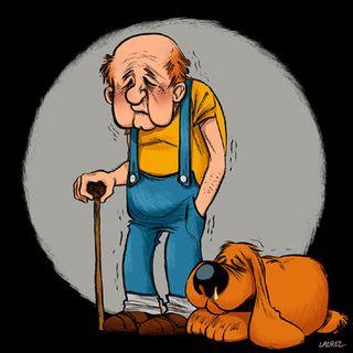 Boule et Bill à l'âge de la retraite.