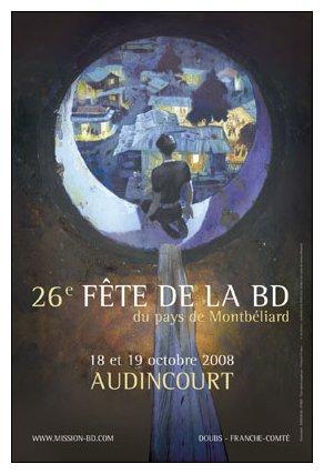 Affiche Fête de la BD Audincourt