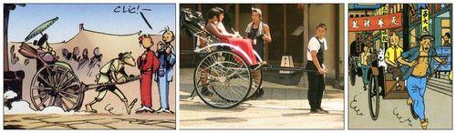 Le rickshaws