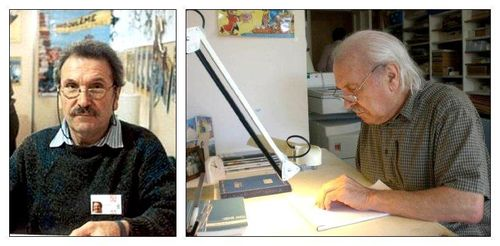 Jean Tabary en activité puis à la retraite