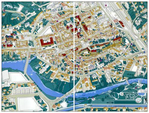 Plan de Montbéliard par Damien Gabiron