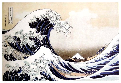 La grande vague de Hokusai