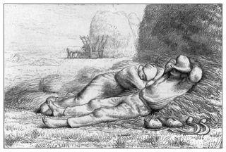 Estampe de J.A. Lavieille d'après son bois gravé.