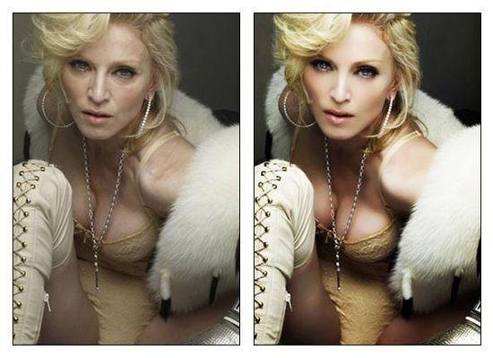 Madonna et Photoshop