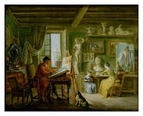 L'atelier du peintre Lallemand