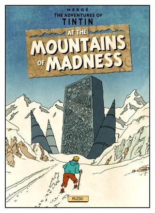 Tintin at the mountains