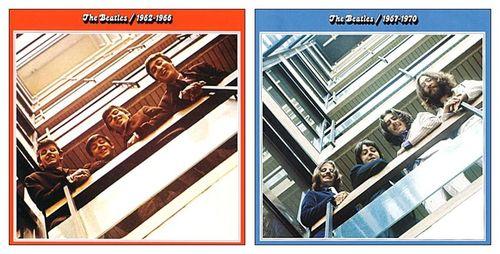 Beatles rouge et bleu