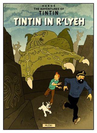 Tintin in r lyeh