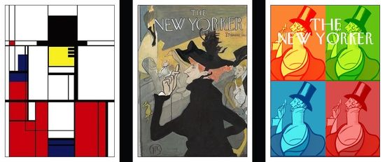 Mondrian Lautrec Warholl