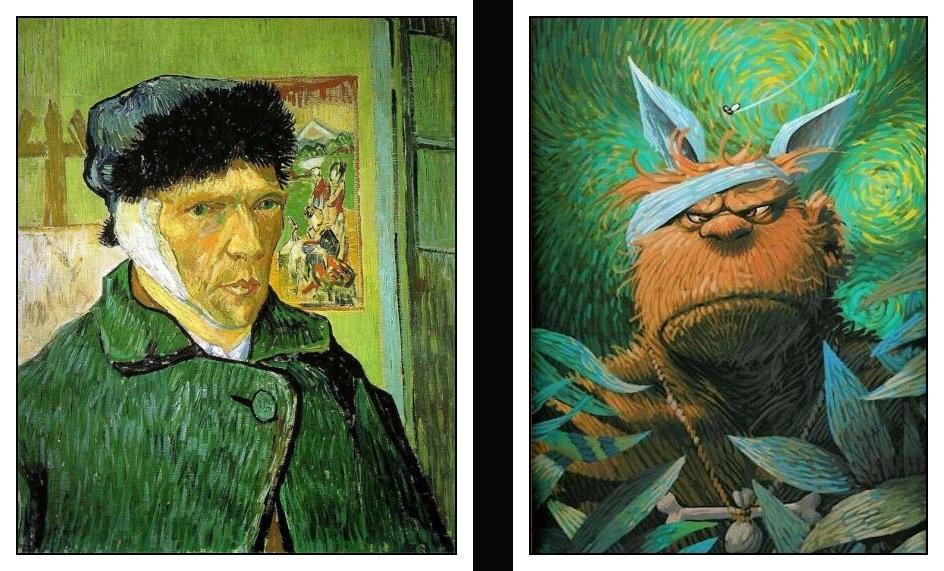 Van gogh oreille coupee - Vincent van gogh autoportrait a l oreille coupee ...