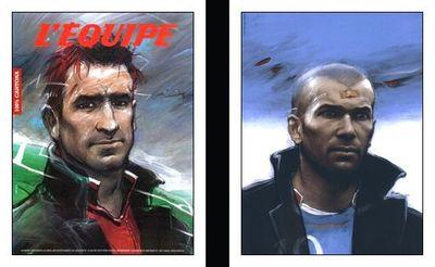 Cantona et Zidane